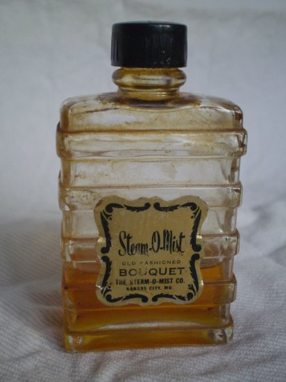 RARE Steam-O-Mist Bouquet Kansas City, MO perfume bottle vintage