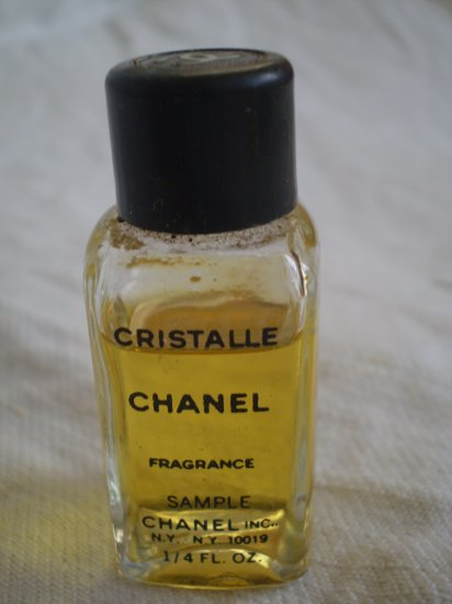 MINIATURE CHANEL CRISTALLE 1/4 fl oz FRAGRANCE vintage perfume bottle