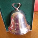 1995 REED & BARTON CHRISTMAS BELL SILVERPLATE ORNAMENT