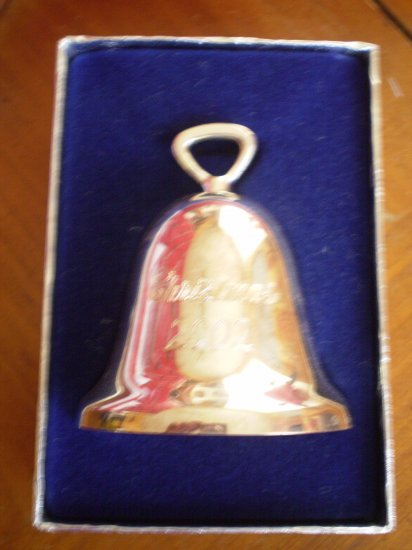 2001 REED & BARTON CHRISTMAS BELL SILVERPLATE ORNAMENT