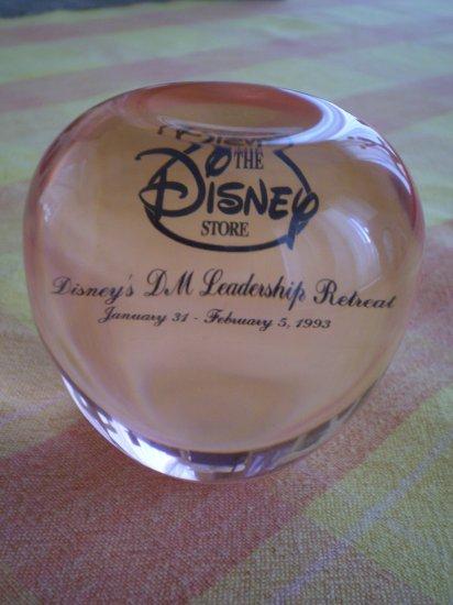 Disney Store 1993 Leadership Retreat Acrylic Apple Award Disneyland