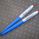 Lot 2 Vintage Wearever Ballpoint Pen Ball Point Blue Aluminum