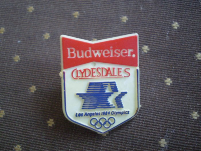 Budweiser Clydesdales Los Angeles Olympics 1984 Pin
