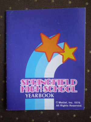 Barbie Springfield High School Yearbook 1979 Mattel miniature