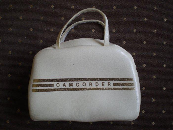 Barbie camcorder bag case off-white vinyl miniature vintage