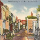 Oldest Cemetery, St Louis No. 1, New Orleans, LA postcard vintage