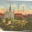 Jackson Square, New Orleans, LA postcard vintage