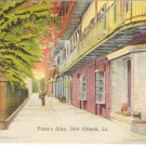Pirate's Alley, New Orleans, LA postcard vintage