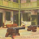 Courtyard & Prison Rooms in Cabildo, New Orleans, LA postcard vintage