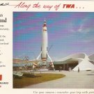 TWA Rocket To The Moon Disneyland 1955 postcard