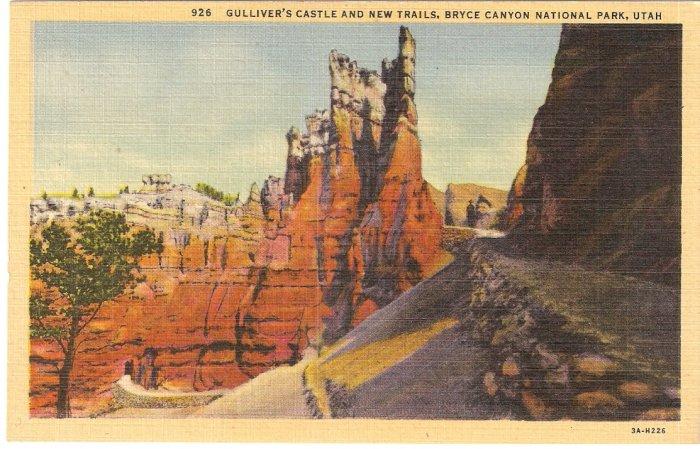 Gulliver's Castle New Trails Bryce Canyon National Park Utah postcard  vintage