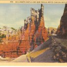 Gulliver&#39;s Castle New Trails Bryce Canyon National Park Utah postcard  vintage