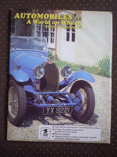 Automobiles A World on Wheels Stamp Collecting Kit 855 sealed USPS