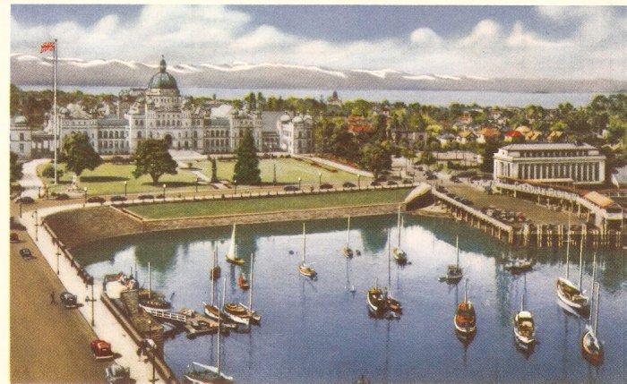 Victoria B.C. Parliament C.P.R. Building postcard