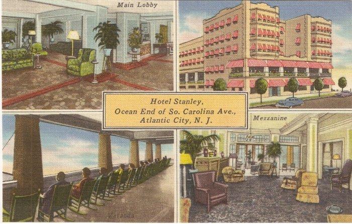Hotel Stanley Atlantic City NJ postcard