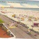 General View Beach Boardwalk Atlantic City NJ postcard