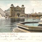 Shooting the Chutes Los Angeles CA 1905 vintage postcard