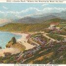 Castle Rock Roosevelt Hwy Santa Monica, CA postcard