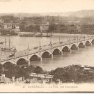 France Bordeaux Le Port vue d&#39;ensemble b&w postcard
