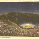 Hollywood Bowl California postcard vintage