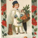 A Christmas Message vintage postcard 1911