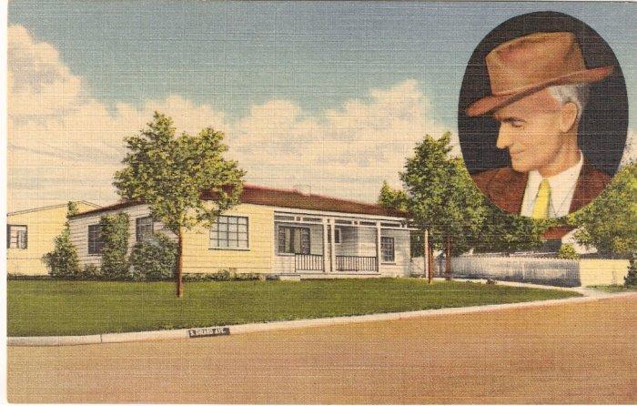 Ernie Pyle Home Albuquerque New Mexico vintage postcard