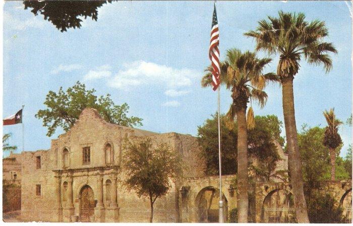 The Alamo, Texas San Antonio TX 70's postcard