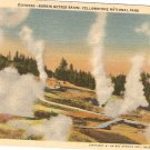 Norris Geyser Basin Yellowstone National Park vintage postcard
