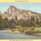 Yosemite National Park Half Dome California vintage postcard