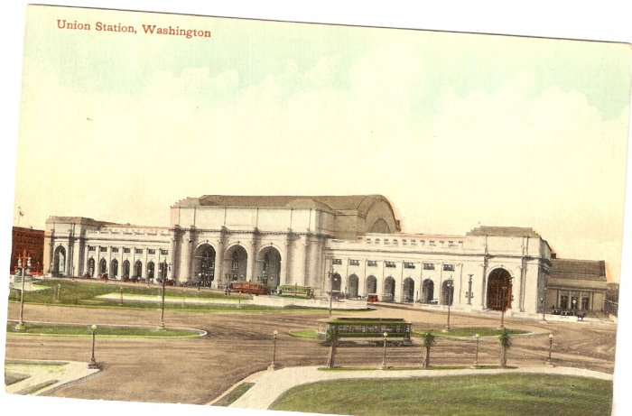 New Union Station Washington DC vintage postcard