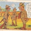 Th Sarg Gave Me Th Works Army Comics WW2 vintage postcard