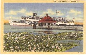 Boat Landing Mt Vernon Virginia vintage postcard