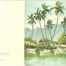 Vintage Buzza Cardozo note card blank tropical island Barrineau