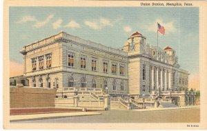 Union Station Memphis Tenn vintage postcard
