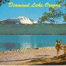 Diamond Lake Oregon vintage postcard