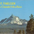 Mt Thielsen Oregon Cacase Mountains vintage postcard