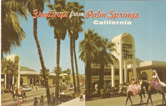 Greetings Palm Springs California vintage postcard