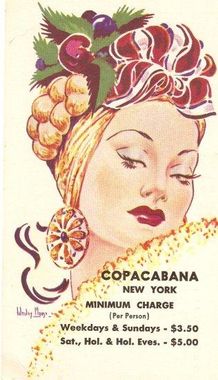 Copacabana New York City vintage postcard