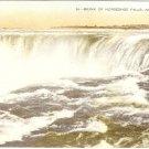 Brink of Horseshoe Falls Niagara Canada Vintage Postcard