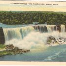 American Falls from Canadian Side Niagara Vintage Postcard
