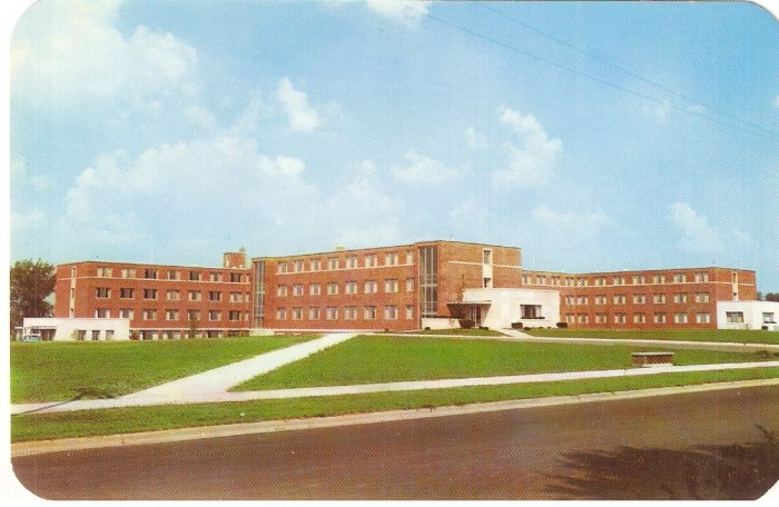 Frances Woodworth Ball State Teachers College Muncie Indiana vintage postcard