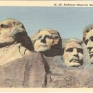 Mt Rushmore Memorial Black Hills South Dakota vintage postcard 49