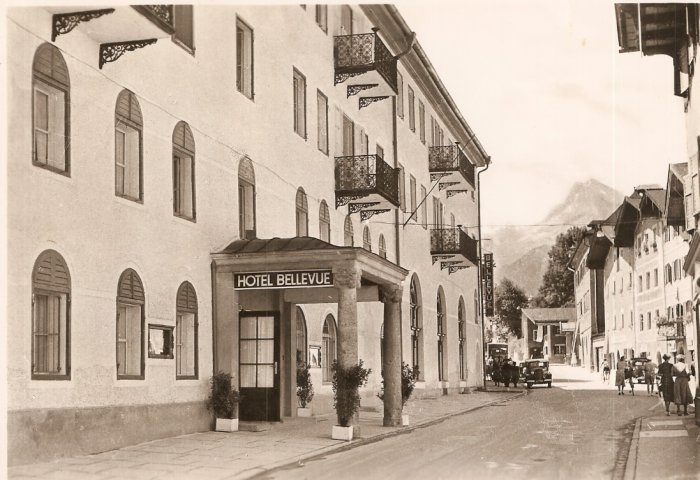 Hotel Bellevue Berchtesgaden Recreation Area US Army Germany Vintage Postcard