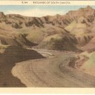Badlands South Dakota vintage postcard