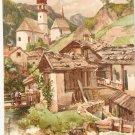 Gossensass Brennerbahn vintage postcard