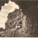 Wendelsteinbahn Blick vom in den Tunnel train  vintage postcard