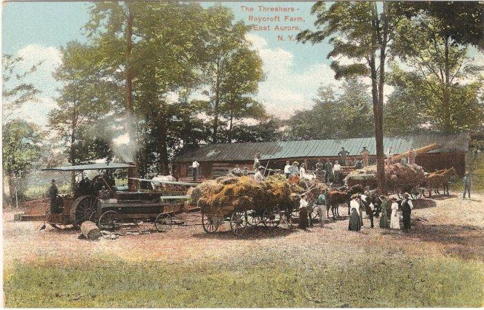 Threshers Roycroft Farm East Aurora Erie County New York vintage postcard