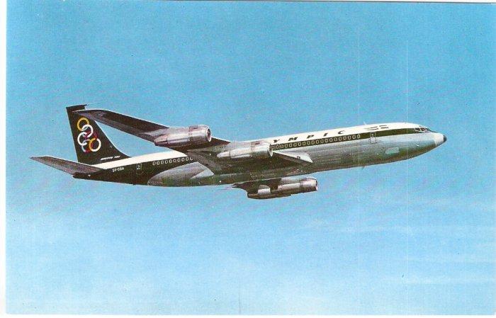 Olympic Airways Boeing 707-320 postcard