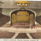 Interior Auditorium Valparaiso University Indiana vintage postcard