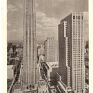 RCA and International Building Rockefeller Center NYC vintage postcard